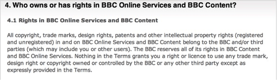 BBC Terms and Conditions
