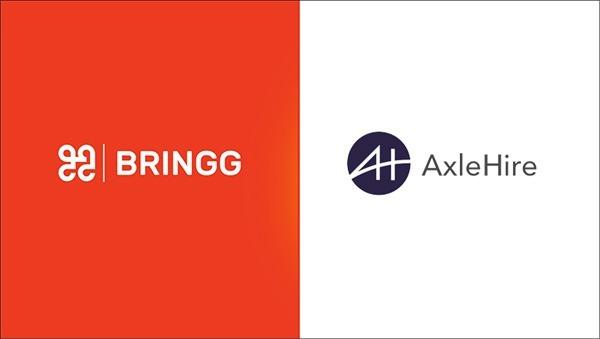 Bringg & AxleHire - Press release featured image