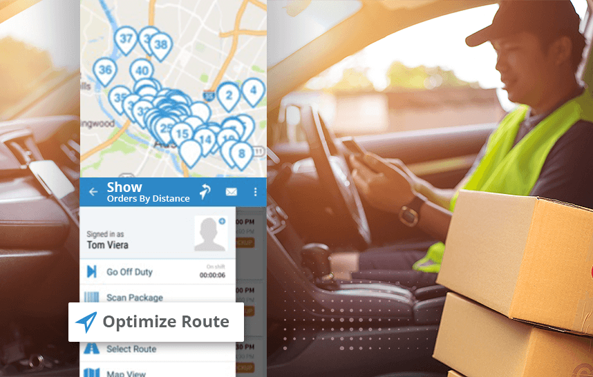 Route planner app: optimizing multi stop deliveries